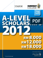 A-Level Scholarships 2012