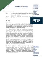 Oxus Lawyers Write to American Uzbekistan Chamber of Commerce