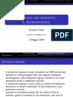 Calcolo Dei Sequenti - 01 - [Lucidi] - Introduzione (1)