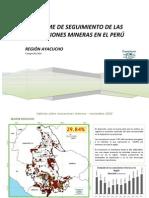 Informe de concesiones mineras en la Región Ayacucho