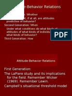 Attitude Behavior Relations com