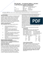 UT Dallas Syllabus for psy3342.501.11f taught by Malcolm Housson (housson)