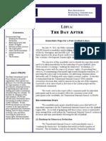 PILPG Report - Immediate Steps for a Post-Qadhafi Libya - Final 08.11