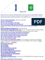 Microsoft Windows XP Repair Guide