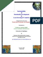 Sustainability of Sustainable Development in LDCs