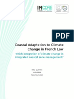 Coastal Adaptation to Climate Change in French Law - which integration of climate change in ICZM?
