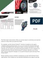 Polar S610i Manual