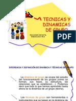 Tecnicas y Dinamicas de Grupo