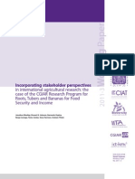Incorporating stakeholder perspectives in international agricultural research
