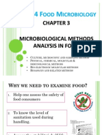 Chapter 3 - Microbiological Methods Analysis in Food