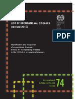 Occupational Disease Revised 2010 (ILO)