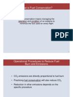 Fuel Conservation Ops