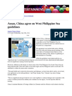 Asean, China Agree on West Philippine Sea
