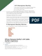 Biography of R Narayana Murthy