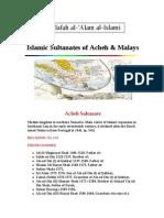 Islamic Sultanates of Acheh & Malays