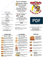 Dagwood's To Go Menu