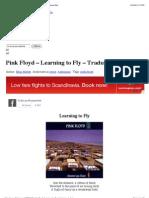 Pink Floyd – Learning to Fly – Traduzione – Testo | Fidicaro