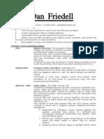 Dan Friedell resume