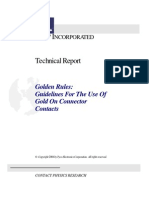 Guidelines for the Use of Gold on Connector Contacts