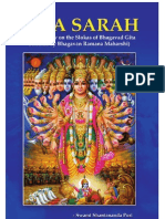 42008768 GITA SARAH Commentary on the Slokas of Gita Selected by Bhagwan Ramana Maharshi