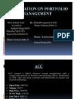 Presentation on Portfolio Management
