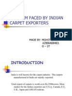 Problem Faced by Indian Carpet Exporters