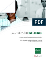 Influencer - How to 10X Your Influence