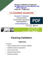 2 3 Cleaning Validation Nairobi May 2011