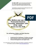 Premarital Seminar Flyer
