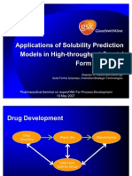 Applications of Solubility Prediction Models in HT Solid