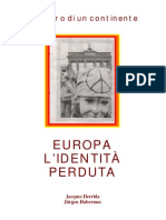 (Ita) Jacques Derrida E Jürgen Habermas - Europa L'identità Perduta
