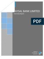 Internship Report Fayal Bank