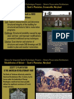 Alliance for Integrated Spatial Technologies Projects – Historic Preservation/Architecture--Rehabilitation of Belvoir – Scott's Plantation, Crownsville, Maryland