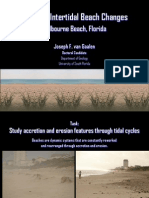 Studying Intertidal Beach Changes (Melbourne Beach, Florida)