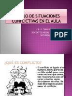 Manejo de Situaciones Conflictivas en el aula 2010- 8