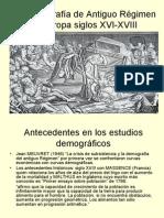 Demografia de Antiguo Regimen Europa Siglos XVI-XVIII