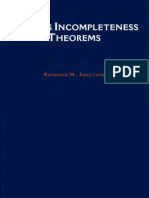 Godel's Incompleteness Theorems Smullyan 0814758169