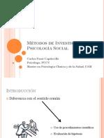 Métodos de Investigación en Psicología Social