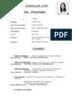 Curriculum Vitae. Lic Griselda Carballo Irala