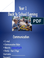 Year 1 Back to School Presentation