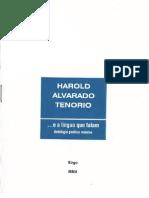 Antologia poética mínima de Harold Alvarado Tenorio