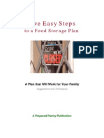 Five Easy Steps to Food Storage