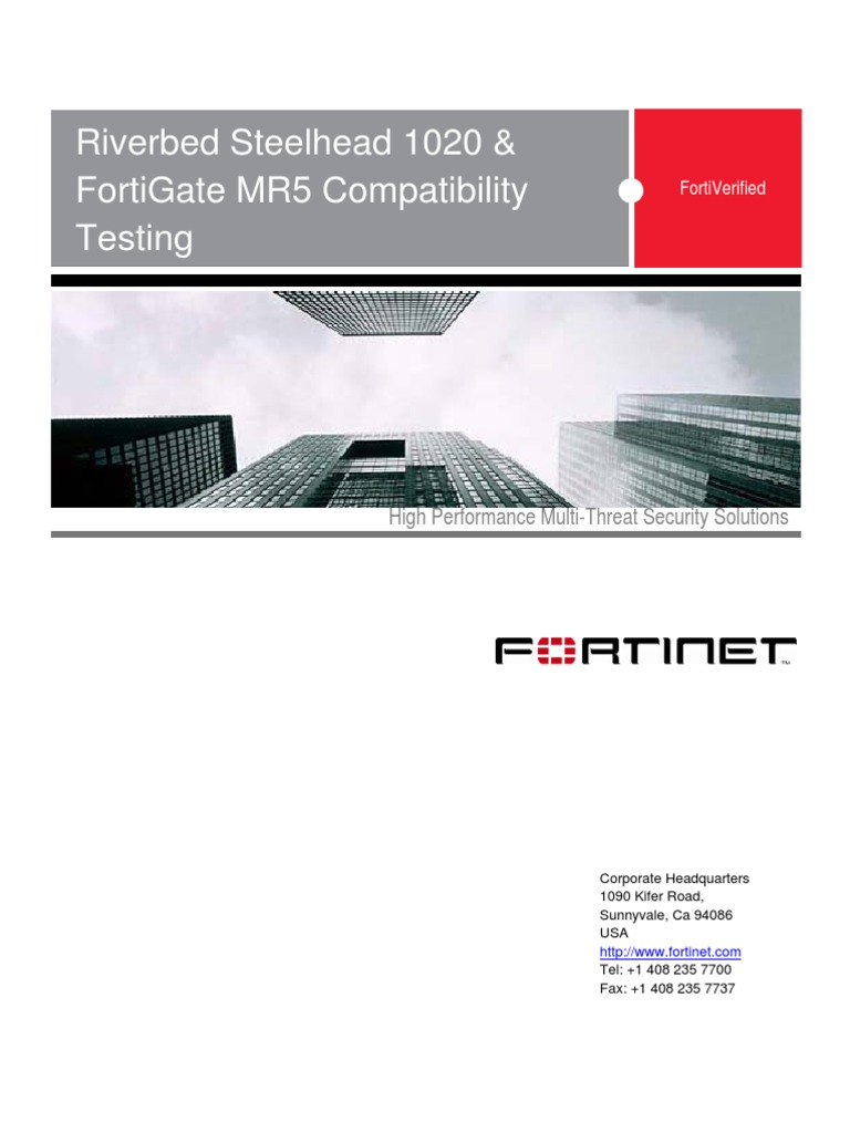 Fortinet Riverbed For Ti Verified v2 | Firewall (Computing) | Routing