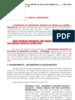Ação Cautelar - Federação de Quadrilhas Juninas