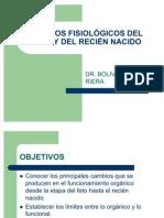 CAMBIOS FISIOLÓGICOS DEL FETO Y DEL RECIÉN NACIDO