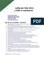 La veille de l'été 2011 de VAD e-commerce