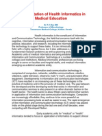 Health Informatics in Medical Education