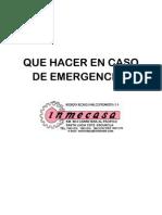 Que Hacer en Caso de Emergencias