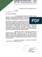 Nota Adhesion Municipalidad San Marcos a Los Manantiales