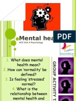 1. Mental Health and Mental Illness